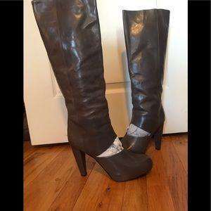 Loeffler Randall Bette-Jodie charcoal boots sz 10